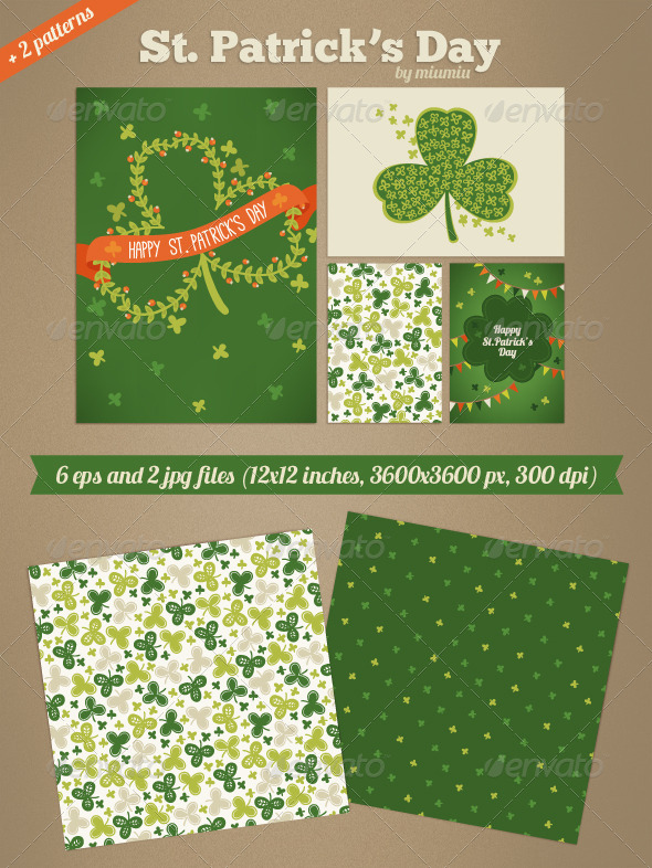 St. Patrick's Day Cards and Patterns - Miscellaneous Seasons/Holidays