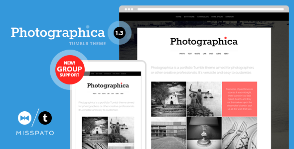Photographica – Portfolio Tumblr Theme