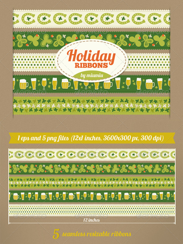 Holiday Ribbons - Miscellaneous Seasons/Holidays