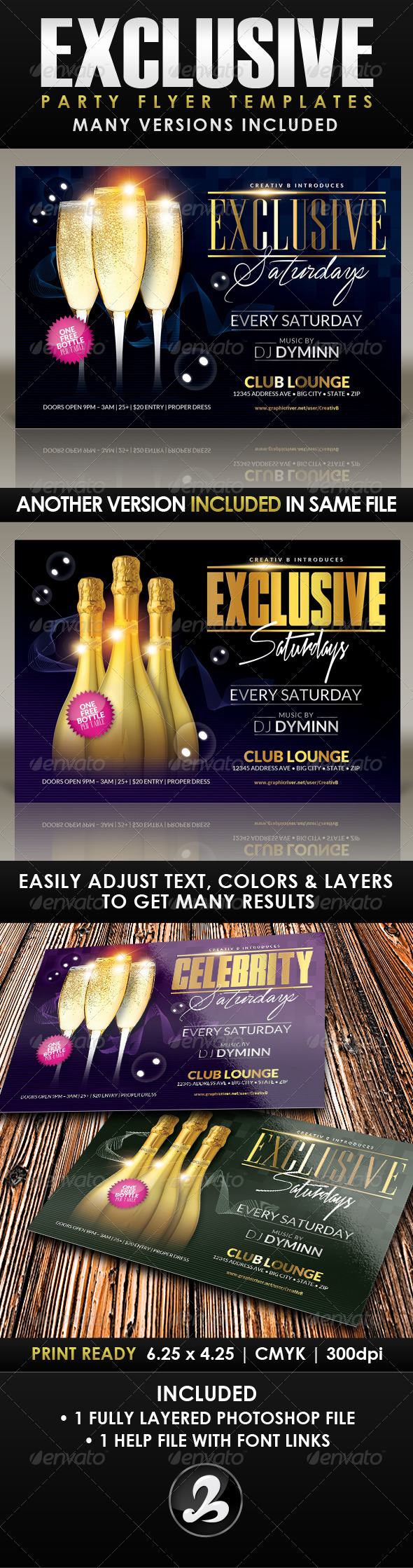 Exclusive Party Flyer Template - Clubs & Parties Events