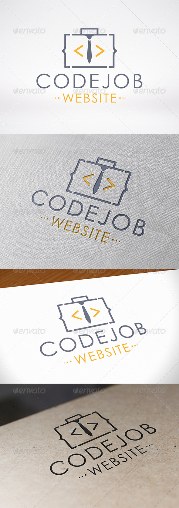 Code Job Logo Template - Objects Logo Templates