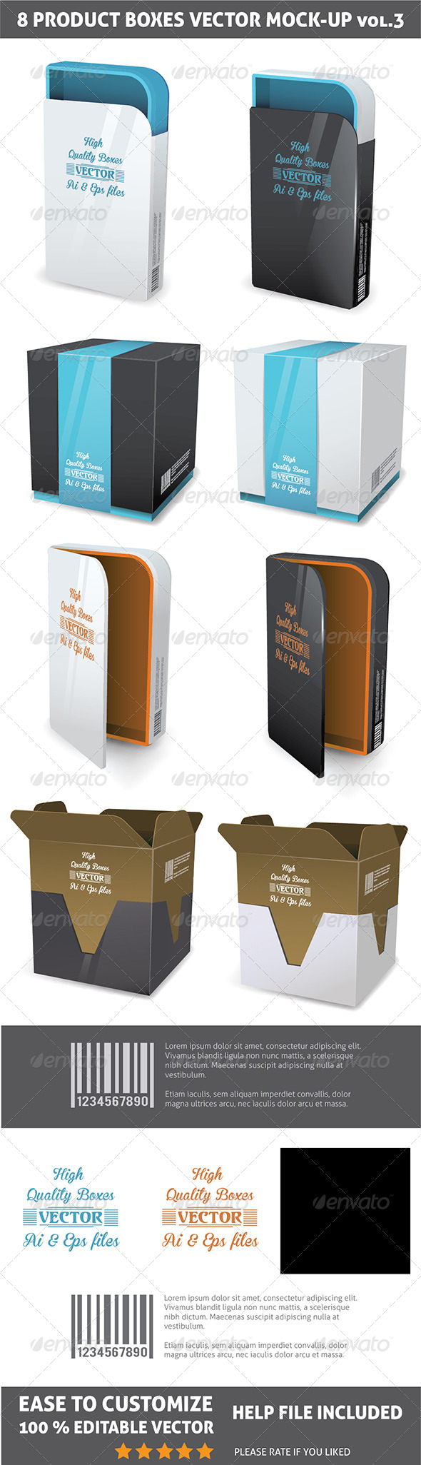 Packages Mockup - Objects Vectors