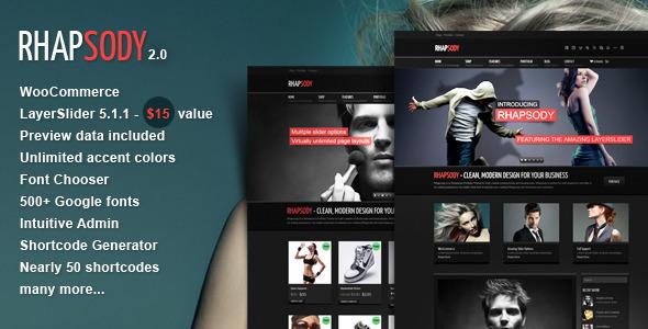 Rhapsody WordPress Multi Purpose Theme