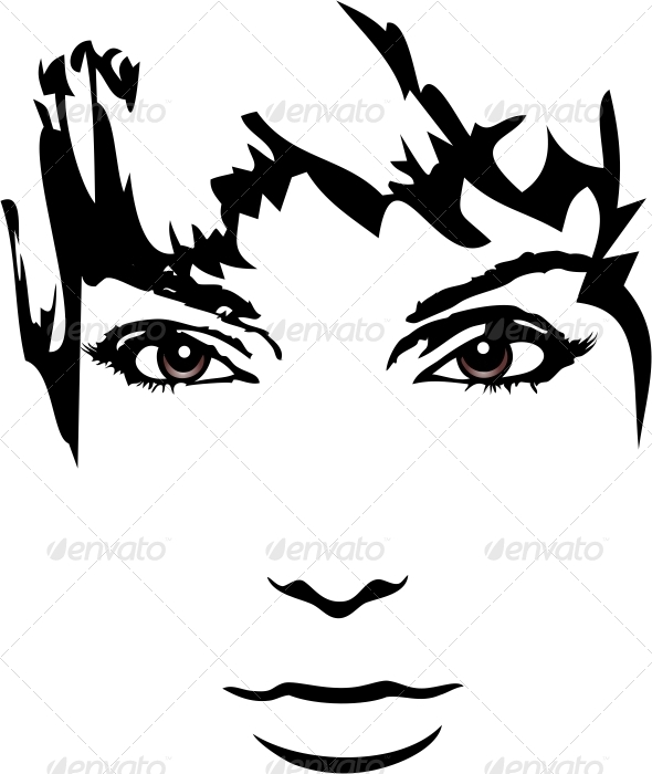 Woman Face - People Characters
