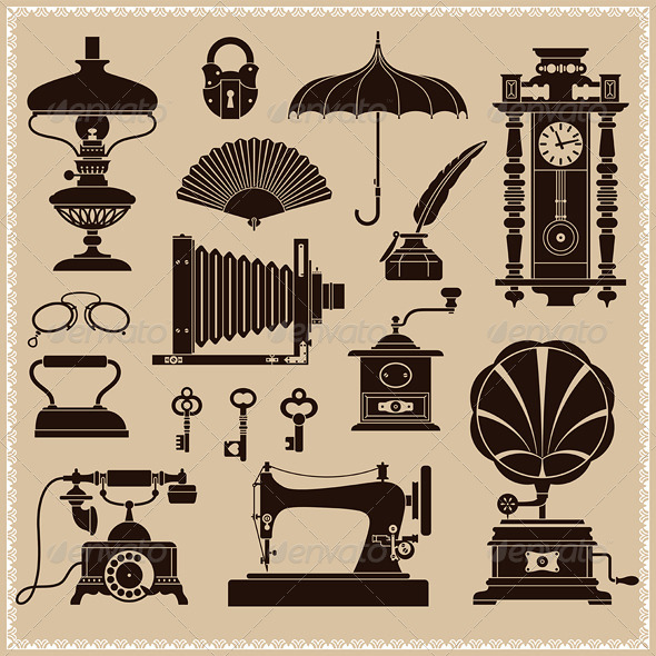 Vintage Ephemera and Objects - Man-made Objects Objects