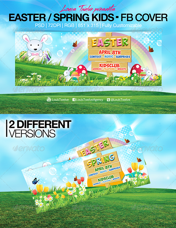 Easter Kids - Spring | Facebook Covers - Facebook Timeline Covers Social Media