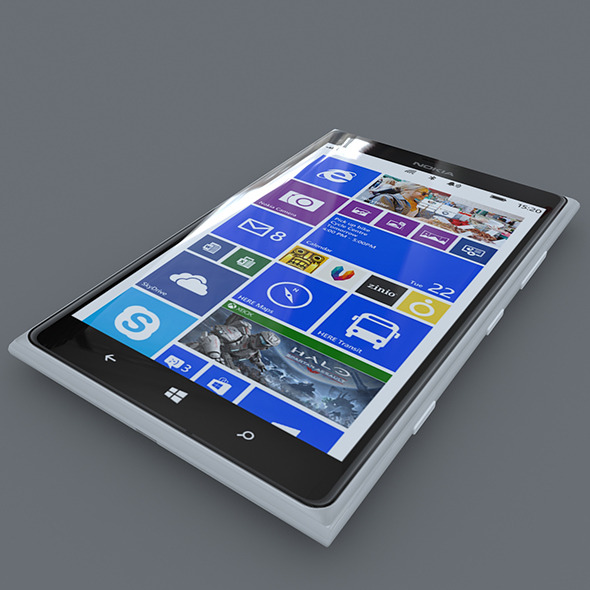 Nokia Lumia 1520 White	 - 3DOcean Item for Sale