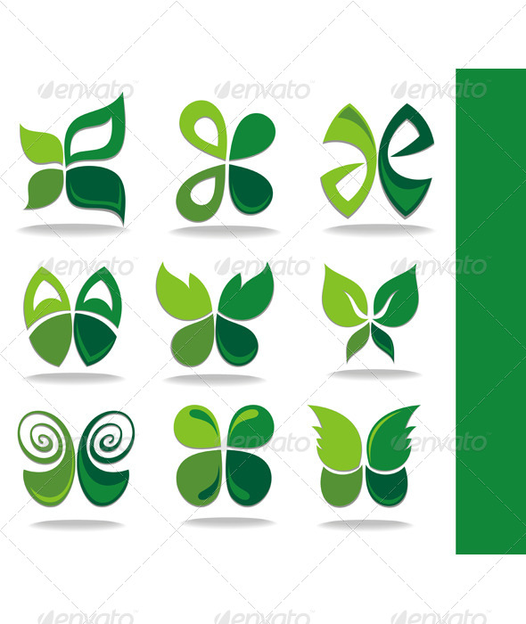 Eco Icon Green Leaves - Flowers & Plants Nature