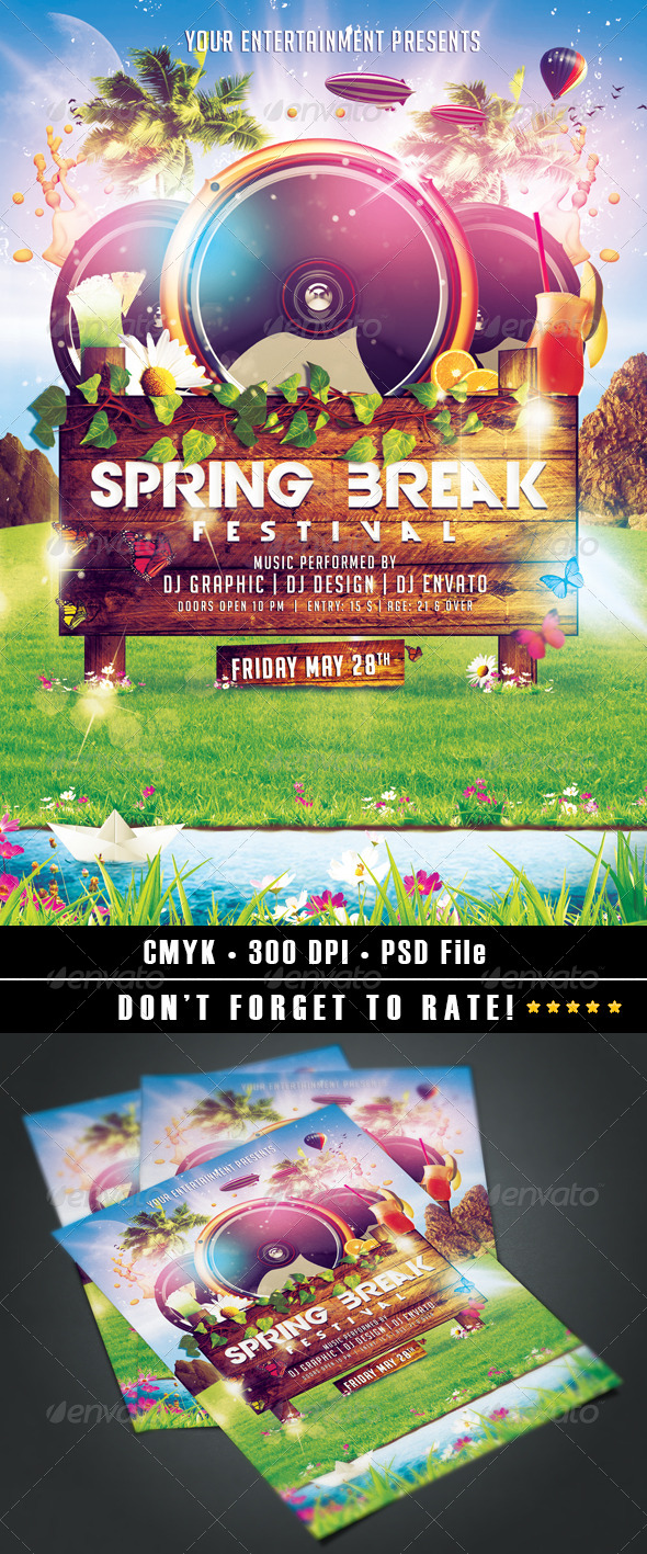 Spring Break Festival - Events Flyers