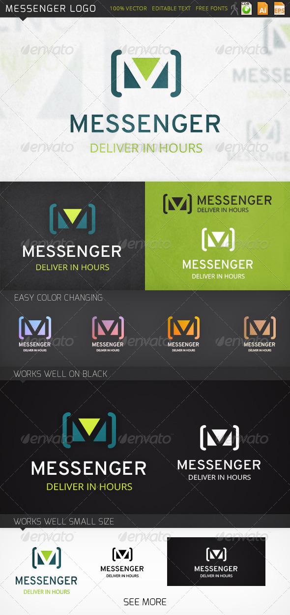 Messenger Letter M Logo Template - Letters Logo Templates