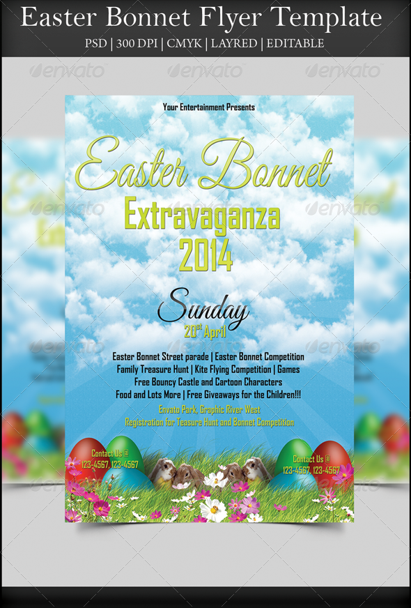 Easter Bonnet Flyer - Holidays Events