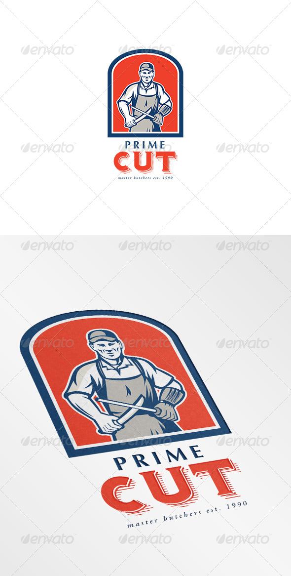 Prime Cut Master Butchers Logo - Humans Logo Templates