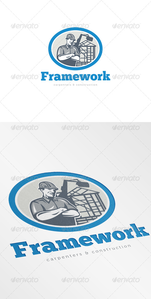 Framework Carpenters and Construction Logo - Humans Logo Templates