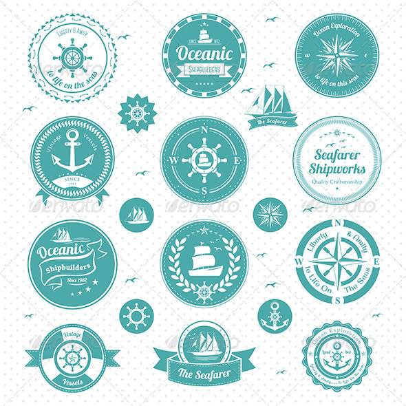 Nautical Icons - Objects Vectors