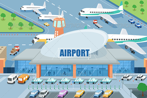 Airport on the Outside - Travel Conceptual