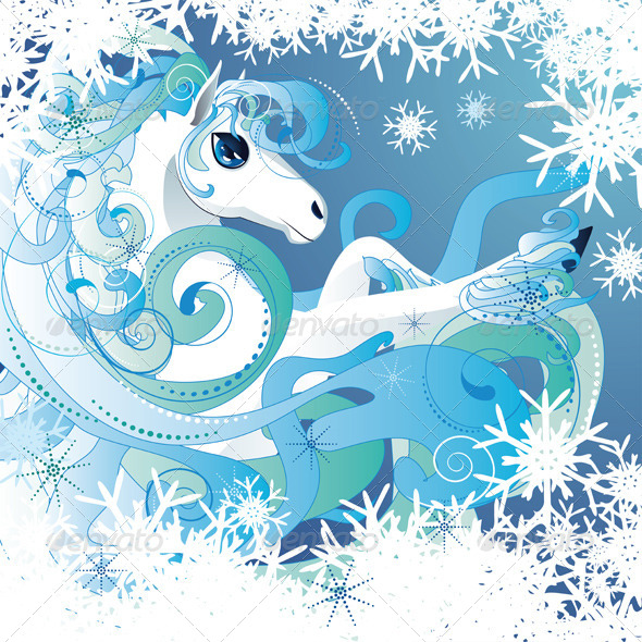 Winter Horse - Animals Characters