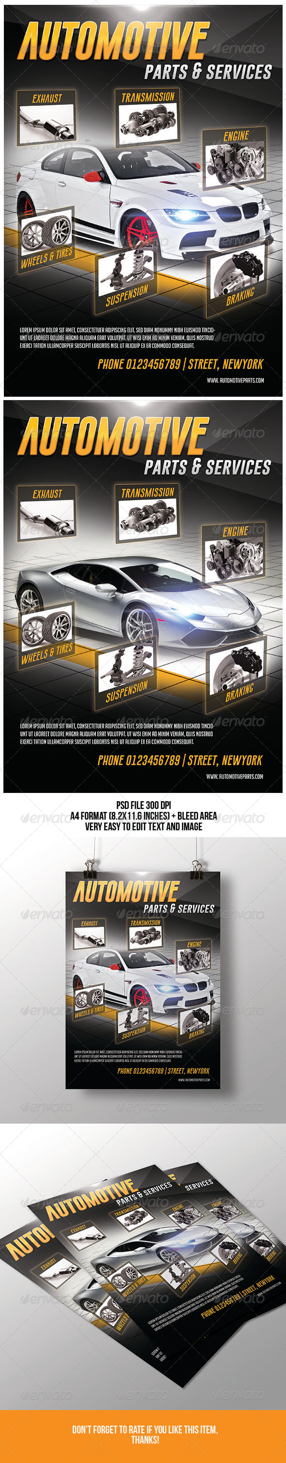 Automotive Parts & Services Flyer - Corporate Flyers