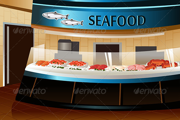 Grocery Store: Seafood Section - Retail Commercial / Shopping
