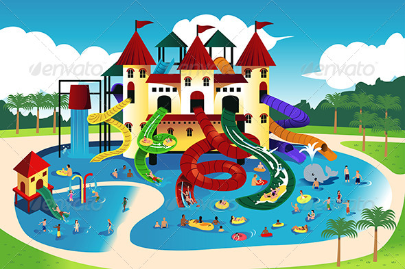 People Going to Water Park - Sports/Activity Conceptual