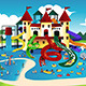 People Going to Water Park - GraphicRiver Item for Sale