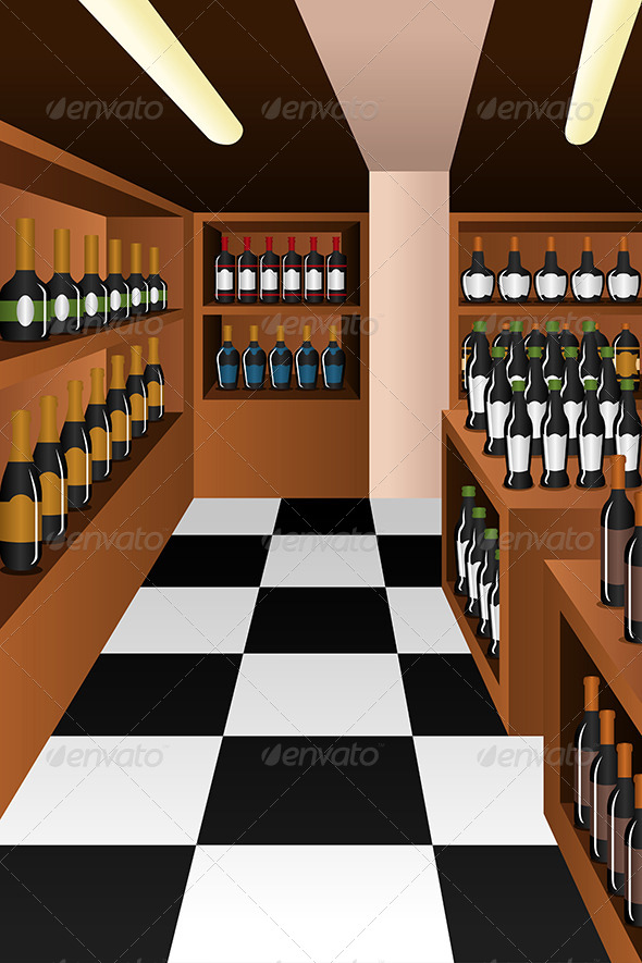 Wine Section in a Store - Retail Commercial / Shopping