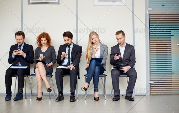 People with mobile phones - Stock Photo - Images