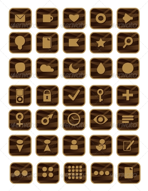 Set of Shopping Icons - Decorative Symbols Decorative
