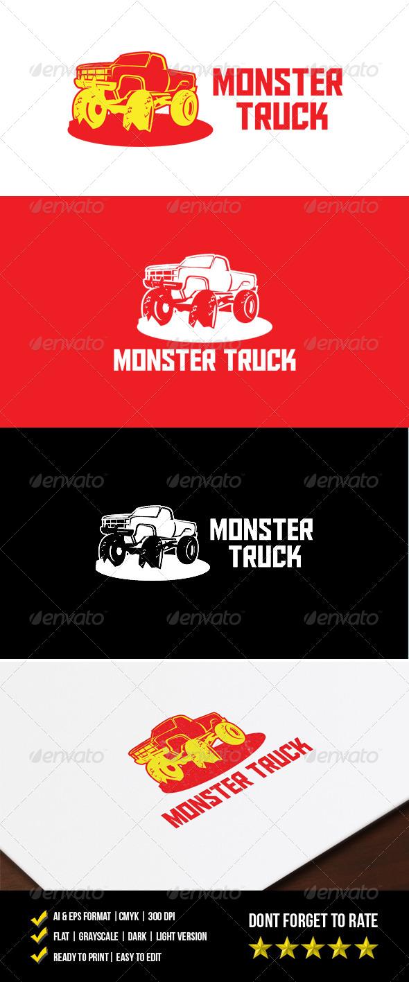 Monster Truck Logo - Objects Logo Templates