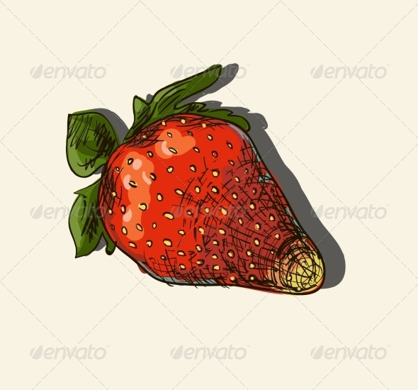 Illustration of Strawberry - Food Objects