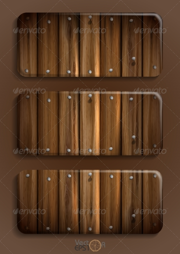 Wooden Texture Banner - Tattoos Vectors