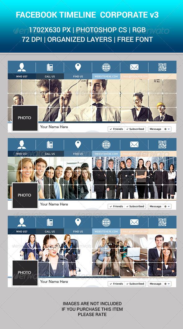 Facebook Timeline Corporate v3 - Facebook Timeline Covers Social Media