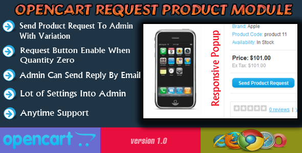 Opencart Request Product Module - CodeCanyon Item for Sale