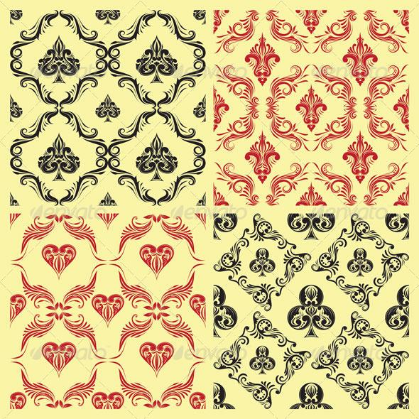 Pattern Playing Card Ornamental - Patterns Decorative