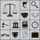 Law Justice Police Icons - GraphicRiver Item for Sale