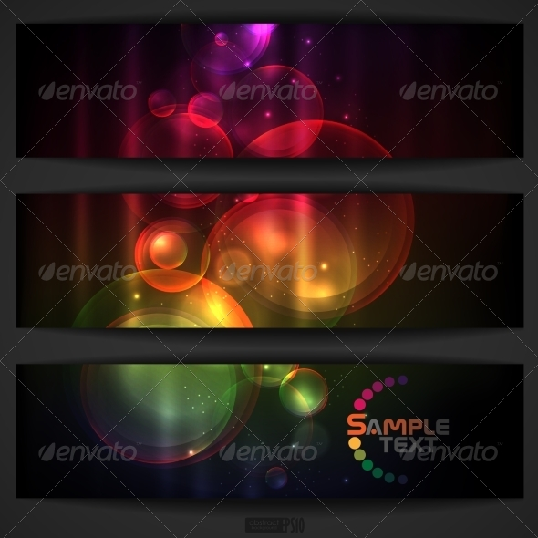 Abstract Colorful Banner - Backgrounds Decorative