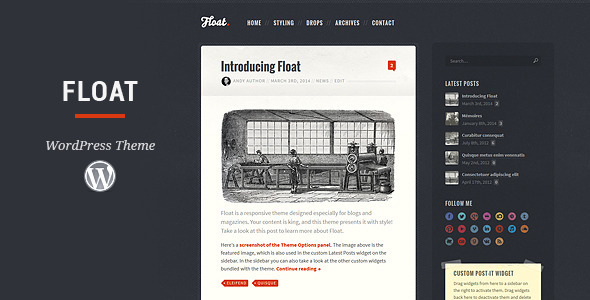 Float - Responsive Blog Theme - Personal Blog / Magazine