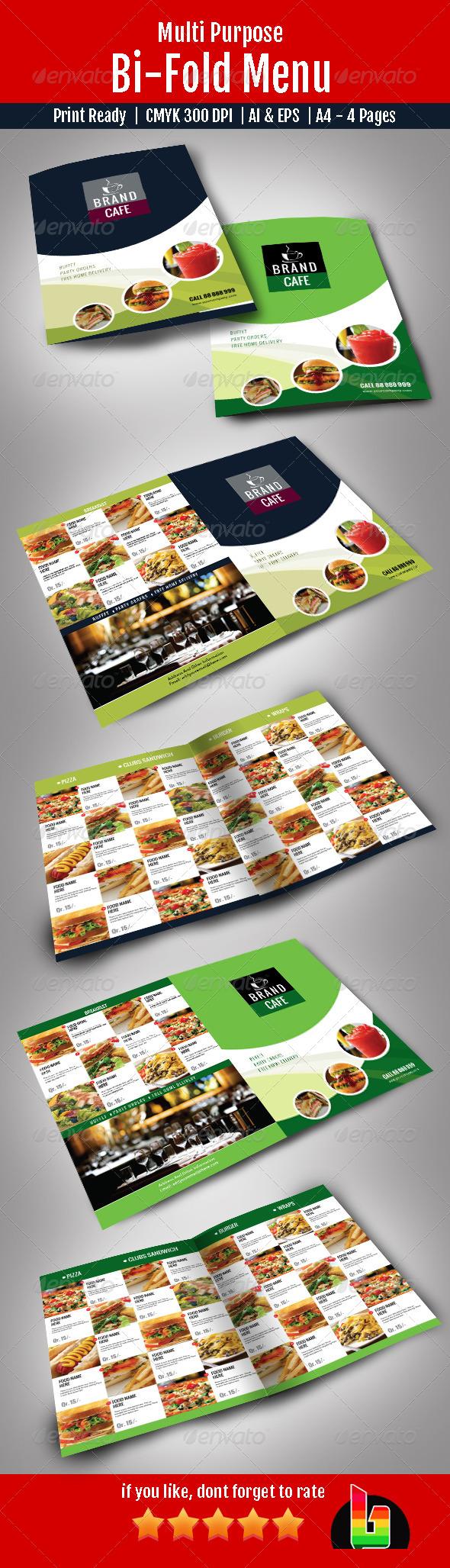 Bi-Fold Menu - Restaurant Flyers