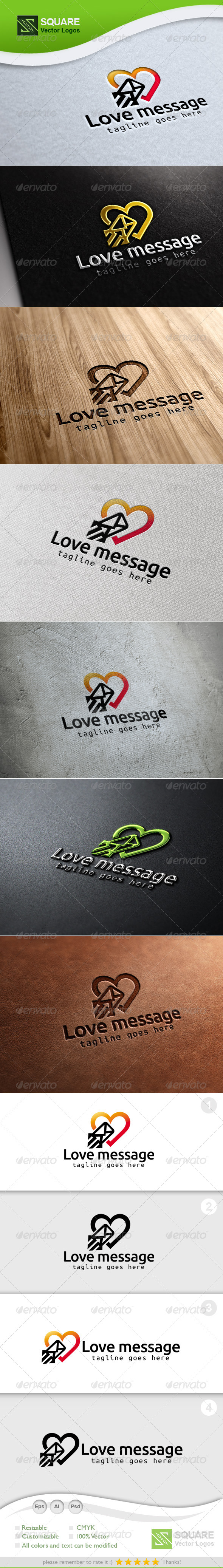 Love, Message Vector Logo Template - Symbols Logo Templates