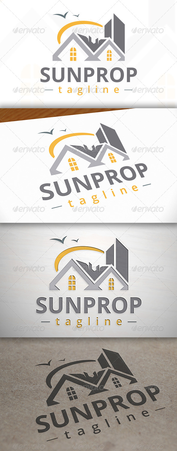 Sun Property Logo - Buildings Logo Templates