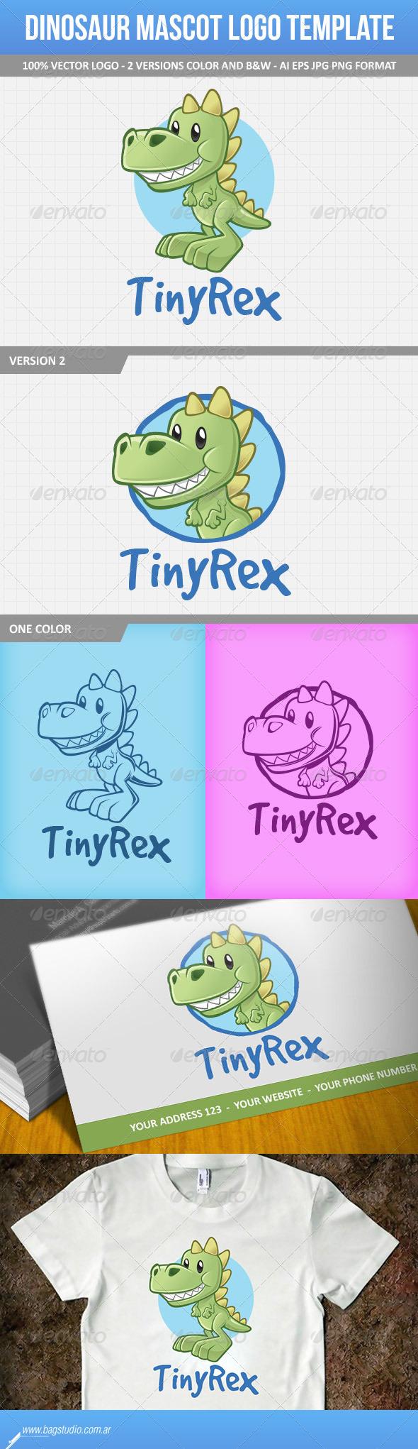 Dinosaur Mascot Logo Template - Animals Logo Templates