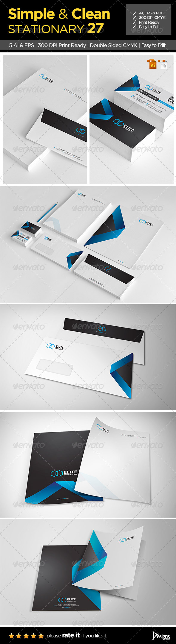 Simple and Clean Stationary 27 - Stationery Print Templates