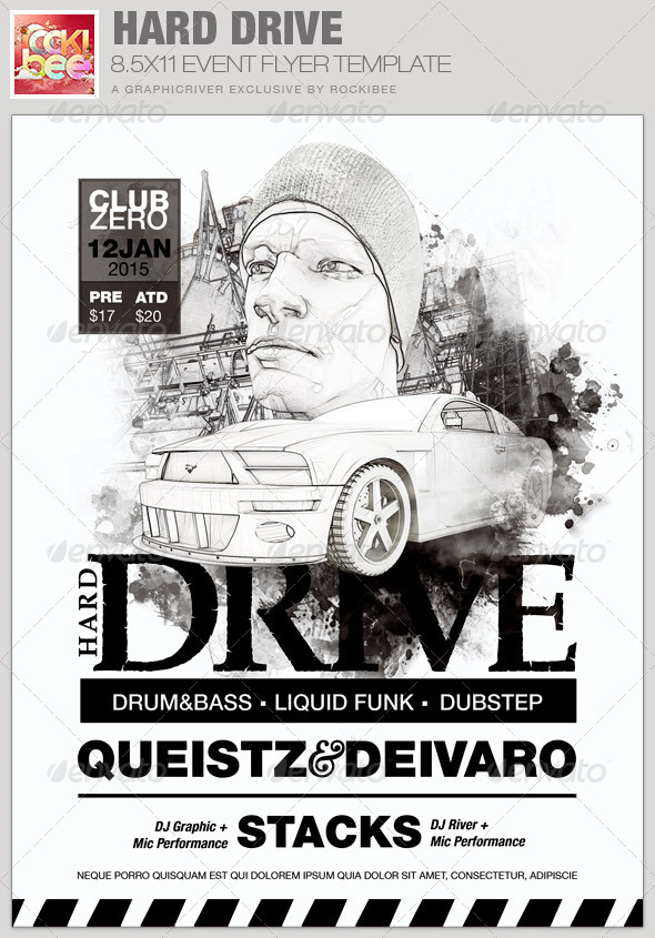 Hard Drive Event Flyer Template - Events Flyers
