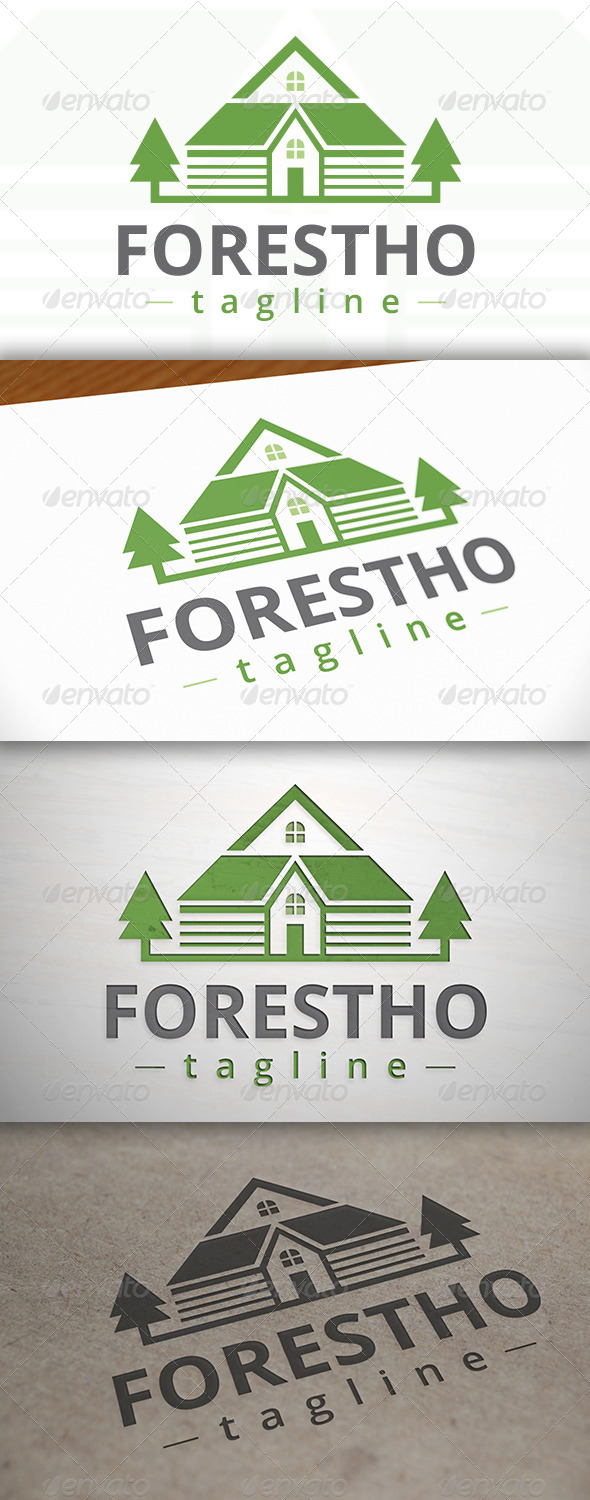 Forest House Logo - Buildings Logo Templates