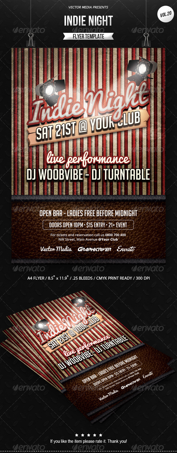 Indie Night - Flyer [Vol.20] - Clubs & Parties Events