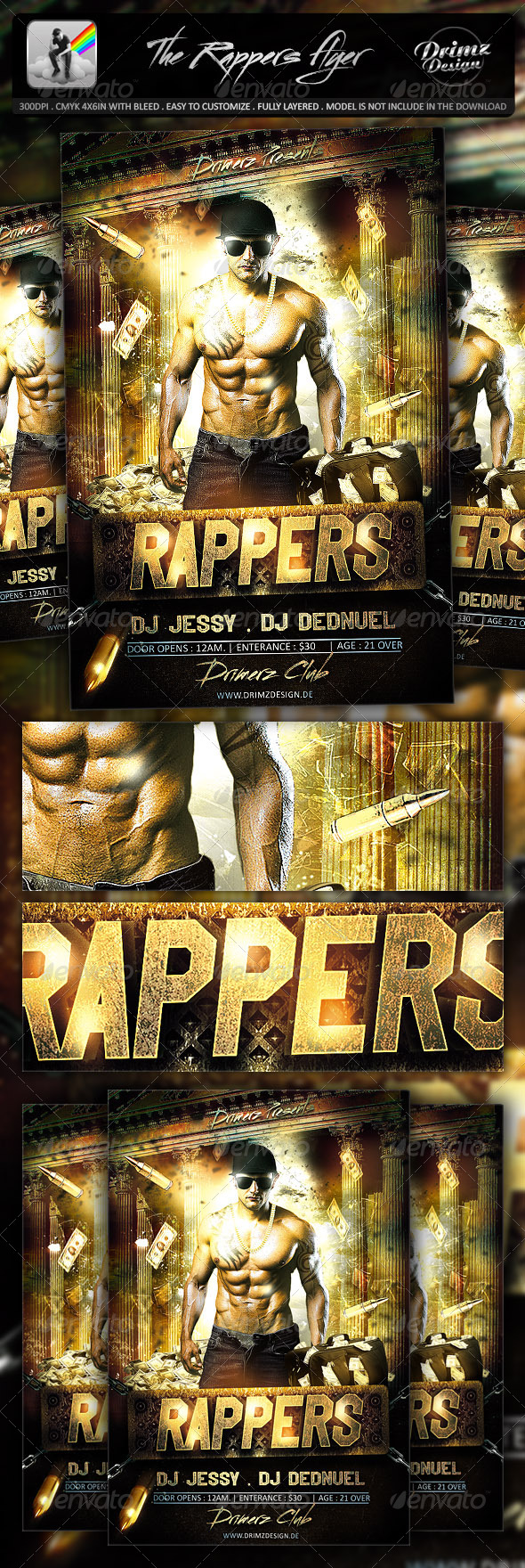 The Rappers Flyer - Events Flyers