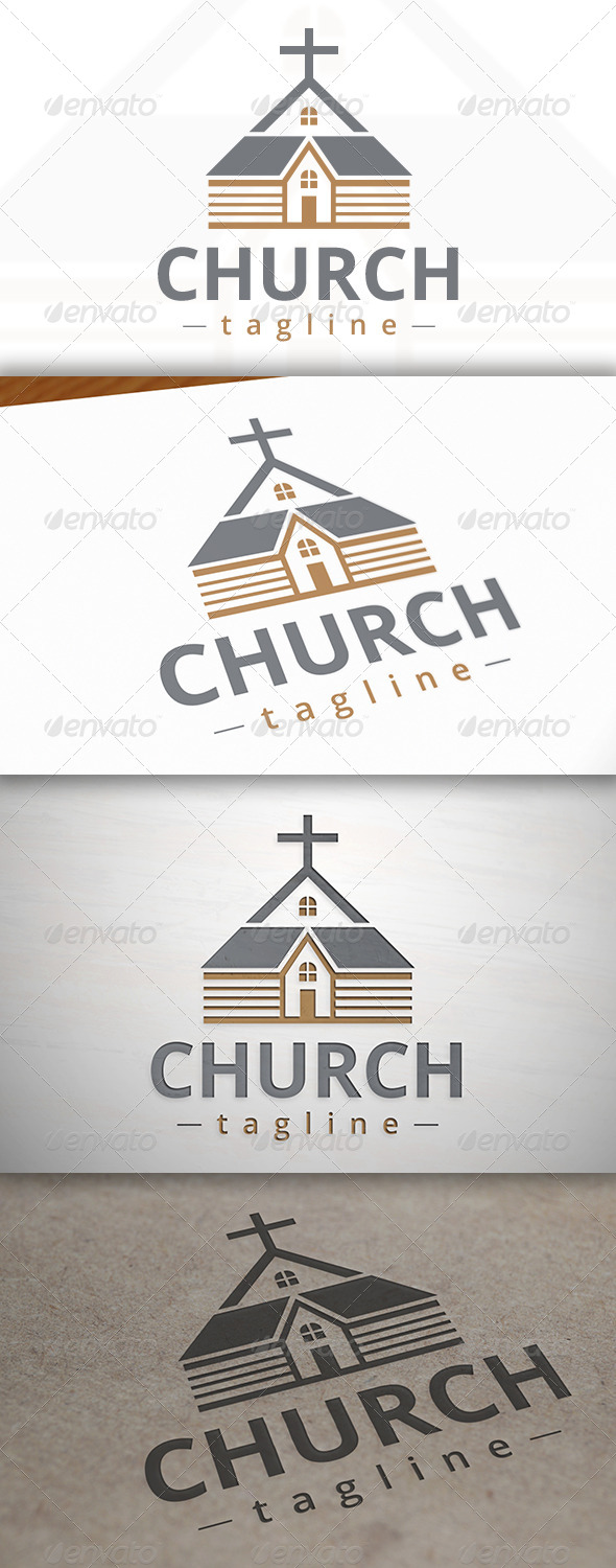 Classic Church Logo - Buildings Logo Templates