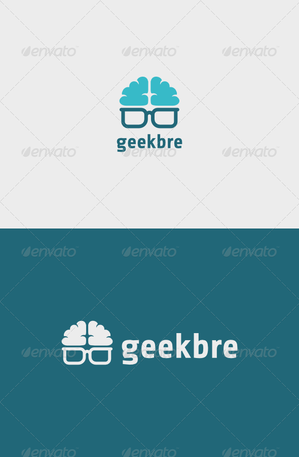 Geek Brain Logo - Objects Logo Templates