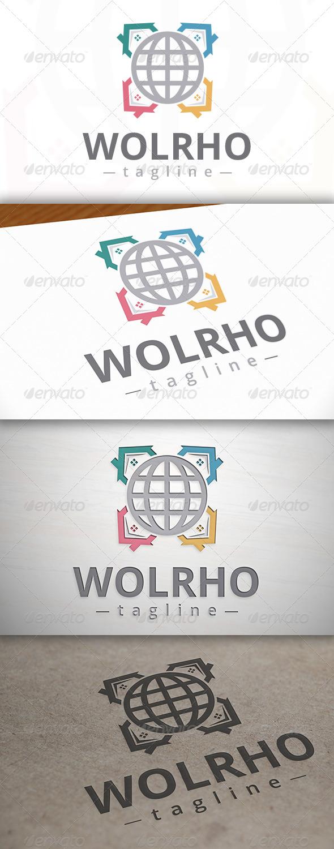 World Houses Logo - Buildings Logo Templates