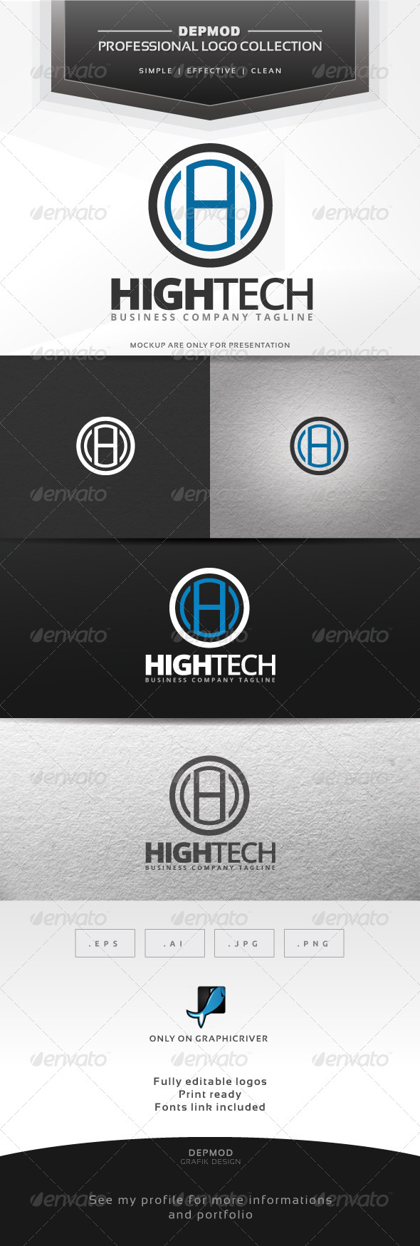 High Tech Logo - Letters Logo Templates
