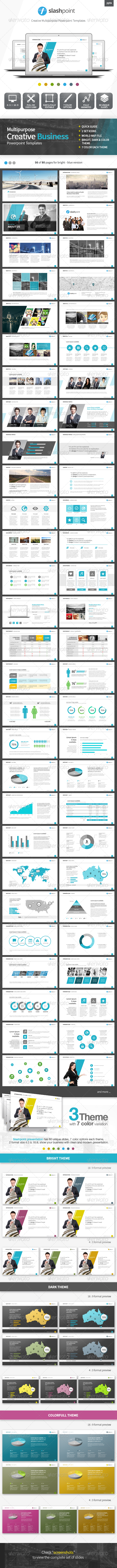 Slashpoint - Creative Business powerpoint template - PowerPoint Templates Presentation Templates